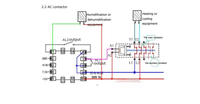 Sensor 85V-265V Digital Temperature Controller and Humidity Control Controller